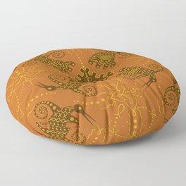 pagan bird. seamless pattern Floor Pillow
