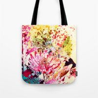 aelwen Tote Bags featuring waterlily by clemm