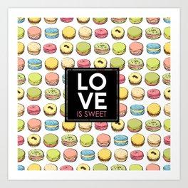 Love is sweet. Art Print