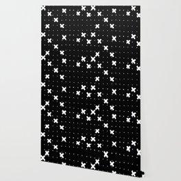 Cosine White on Black Wallpaper