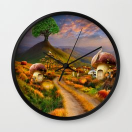 Hidden Village Wall Clock
