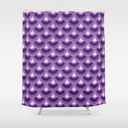 Koi Nobori Fuji Shower Curtain