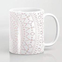 Tribal Mandala Sketch - Rose Gold Coffee Mug