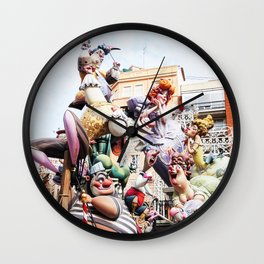 Fallas festival 2019, Valencia Spain Wall Clock
