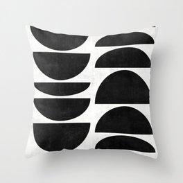 Mid-Century Modern Pattern No.9 - Concrete Throw Pillow