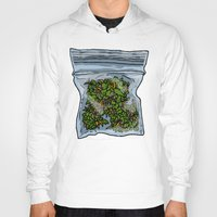 cannabis Hoodies featuring illustrated gram of cannabis by HiddenStash Art
