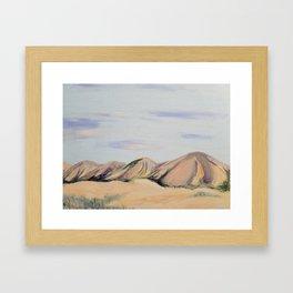 Southwestern Mountain Desert Landscape Framed Art Print