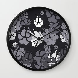 Canine Camo URBAN Wall Clock