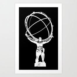 Atlas // Black Art Print