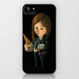 Hello Melted Coffee Ice Cream iPhone Case