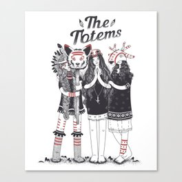 Тotems and Tabu Canvas Print