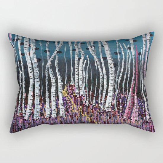 :: Pink Moss :: Rectangular Pillow