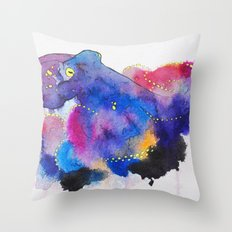 Worried Color Throw Pillow