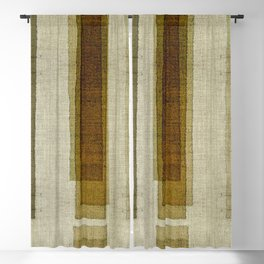 """Burlap Texture Greenery Columns"" Blackout Curtain"