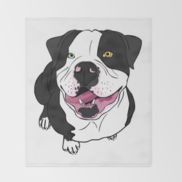 Bubba, the American Bulldog Throw Blanket