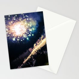 NYE Fireworks on Sugarloaf Mountain in Carrabassett Valley, Maine Stationery Cards