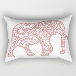 Mandala Elephant - Peach Palette Rectangular Pillow