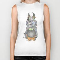 lesbian Biker Tanks featuring lesbian witches by ElenaM