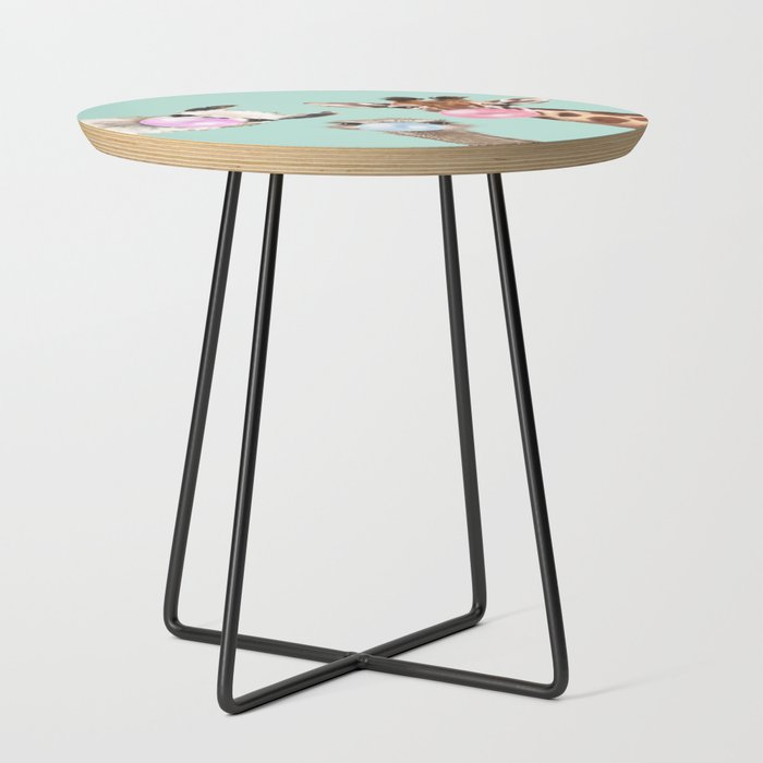 Bubble_Gum_Gang_in_Green_Side_Table_by_Big_Nose_Work__Black__Round