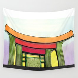 Cactus Pagoda Architectural Design 53 Wall Tapestry