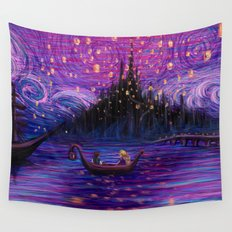 The Lantern Scene Wall Tapestry