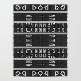 X-Ray Aztec Pattern Poster