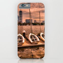 Boats at Charles River, Boston MA, USA iPhone Case