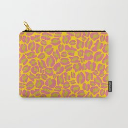 Leopard Print | pink yellow bright colour | Cheetah texture pattern Carry-All Pouch