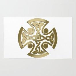 Celtic golden knot Rug