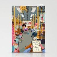 budapest Stationery Cards featuring Budapest underground by Zsolt Vidak
