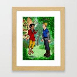 Knight meets Fairy Framed Art Print