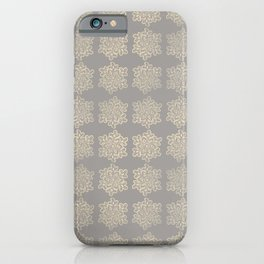 Crochet snowflakes pattern iPhone Case