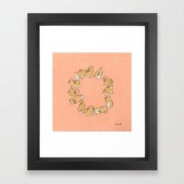 12 lop rabbits Framed Art Print