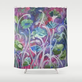 Poppies in the cool of the evening Shower Curtain