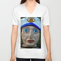 sailor V-neck T-shirts featuring Sailor by Fine2art