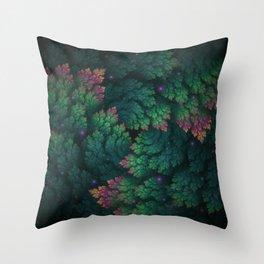 Cosmic Flora Throw Pillow