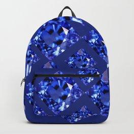 FACETED BLUE ON BLUE SAPPHIRE GEMSTONES Backpack
