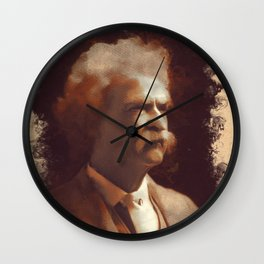 Mark Twain, Literary Legend Wall Clock