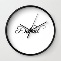 detroit Wall Clocks featuring Detroit by Blocks & Boroughs