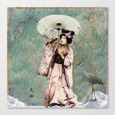 Japanese snow queen Canvas Print