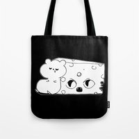 rat Tote Bags featuring ▴ rat ▴ by PIXIE ❤︎ PUNK