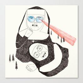 Fighting Nuns Canvas Print