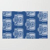 I Still Shoot Film Holga Logo - Reversed Blue Rug