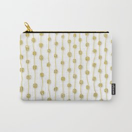 Raining Gold Glitter Confetti - Luxury golden design on #Society6 Carry-All Pouch