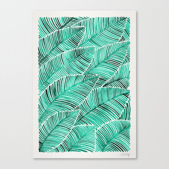 Tropical Turquoise Canvas Print