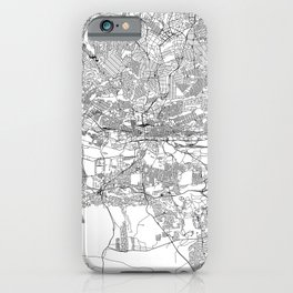 Johannesburg White Map iPhone Case