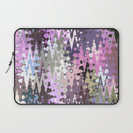 Violet shades icicles, abstract geometric jagged shapes, sharp forms Laptop Sleeve