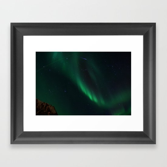 Night-Time Action in the Northen Hemisphere Framed Art Print