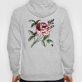 Shabby chic vintage rose and calligraphy Hoody