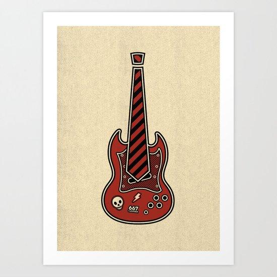 School of Rock Art Print